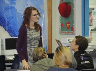 GH Primeau Library Technician Leanne LaRocque introduced former student and best-selling author Jessica Kluthe to students who had an opportunity to hear her speak and provide a workshop on writing. Kluthe is currently teaching Advanced Business Writing and Publishing Prose at MacEwan University.