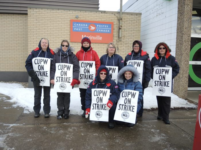Postal Workers On Strike in Prince George