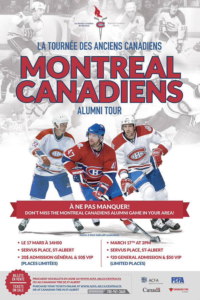 Acfa Bringing Montreal Canadiens Alumni To St Albert The