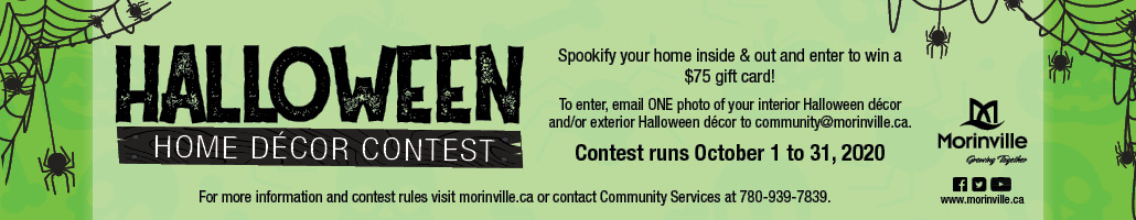 Halloween Decor Contest – Morinville News Banner – SEPT 2020
