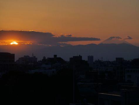 目黒の夕日