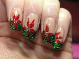 christmas_nail_french_green