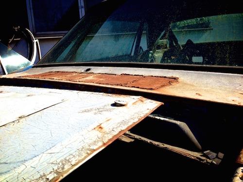 Vintage car junk yard