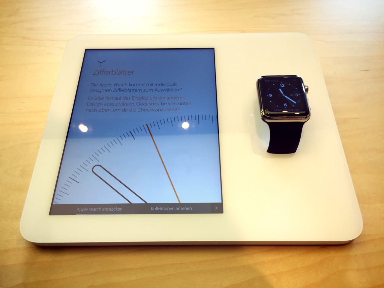 Trying on the Apple Watch - 6