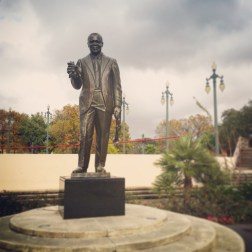 "Louis ""Satchmo"" Armstrong statue - Louis Armstrong Park"