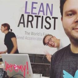 lean artist accelerator - Design Thinking Workshop 1