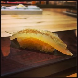 Sushi Ran - omakase - kasugodai baby red snapper nigiri
