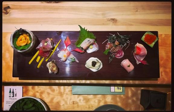 Sushi Ran - omakase - sashimi plate