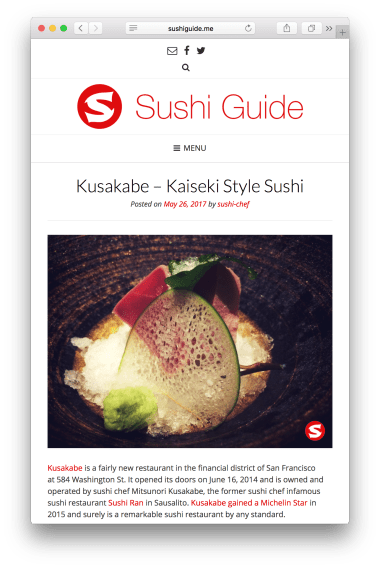 Sushi Guide - review (responsive)
