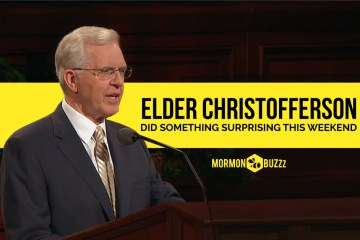 Elder Christofferson Did Something Surprising This Weekend