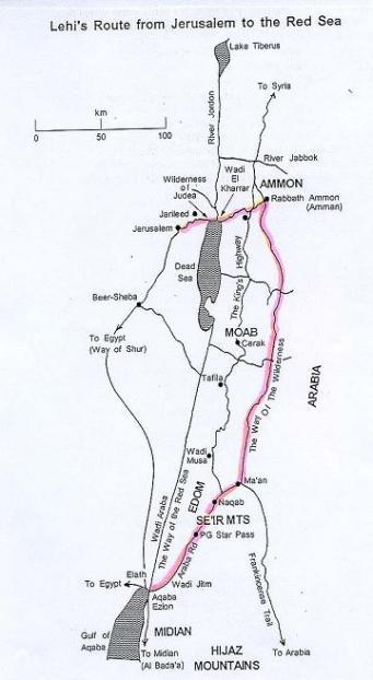Lehi's route-1