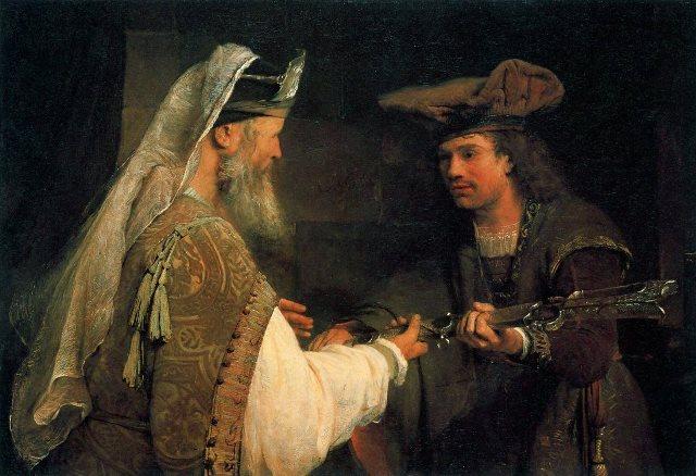 Arent de Gelder_Ahimelech giving Goliath's sword to David