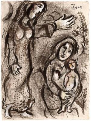 Chagall_Sarah en Hagar_1953