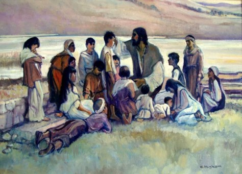 chris-higham_jesus-and-the-children-christian-art