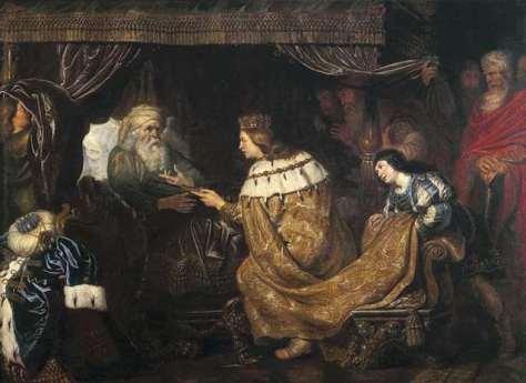 Cornelis de Vos_David draagt de scepter aan Salomo over