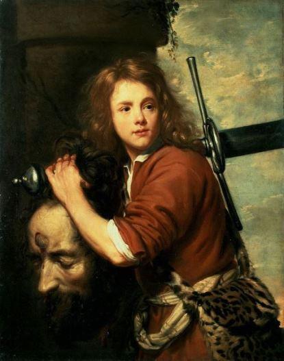 David met het hoofd en het zwaard van Goliath_Jacob van Oost_Hermitage