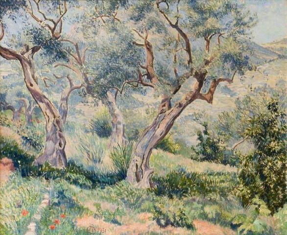 Lucien Pissarro_Les Oliviers du Cabanon_L