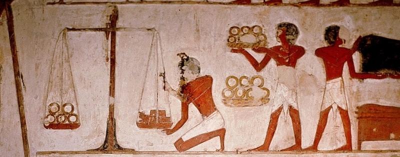 Muurschildering in het graf van Panekhmen-Egypte West Thebe-19de dynastie 1295 1186 vC