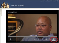 MormonMessages download video button