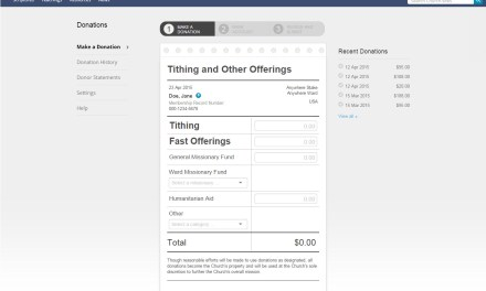 Paying your tithing online: print your own year-end tax statement