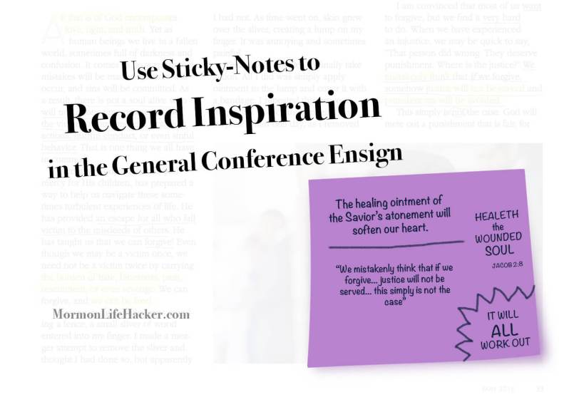 Ensign post it general conference notes
