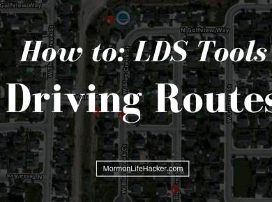 Lds tools lists route mapping