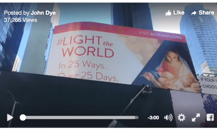 Elder Bednar and Greg Droubay discuss the success of the #LIGHTtheWORLD initiative