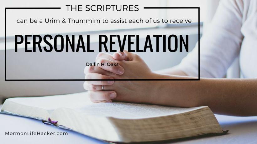 Scripture study habit my system urim thummim oaks quote