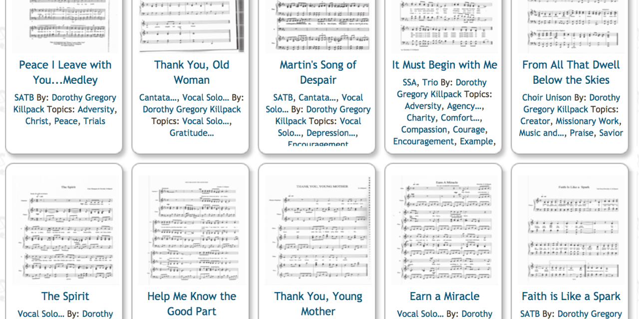Free LDS Sheet Music