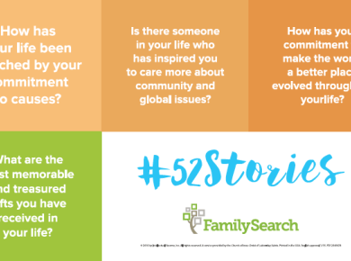 #52Stories FamilySearch Family History writing prompts