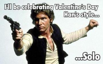 Han Solo Valentine's day meme