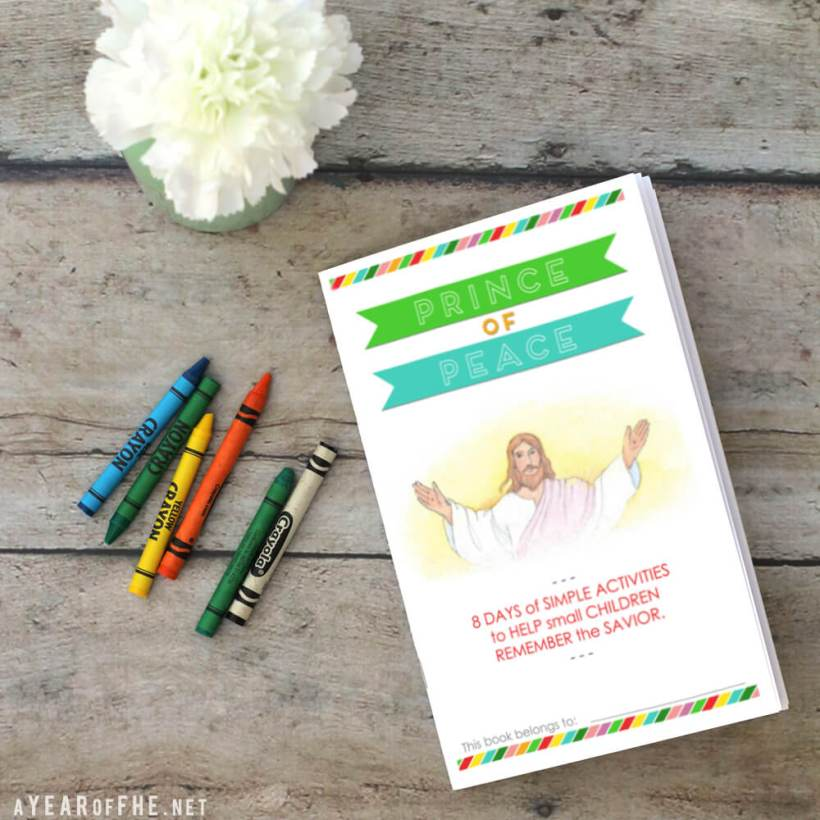 Prince of peace lds easter activity kids