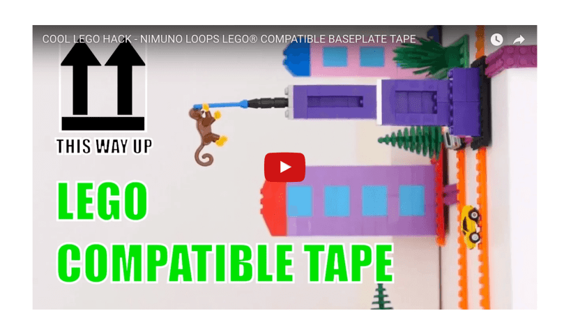 Lego Tape The tape is made by a design studio called Nimuno, who funded the project on Indiegogo