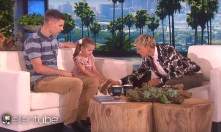 """4-Year-old Claire Ryann (Mormon singer) and her dad perform """"You'll Be in My Heart"""" by Disney on ELLEN"""