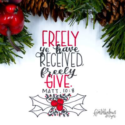 1 freely give by fontabulousdesigns