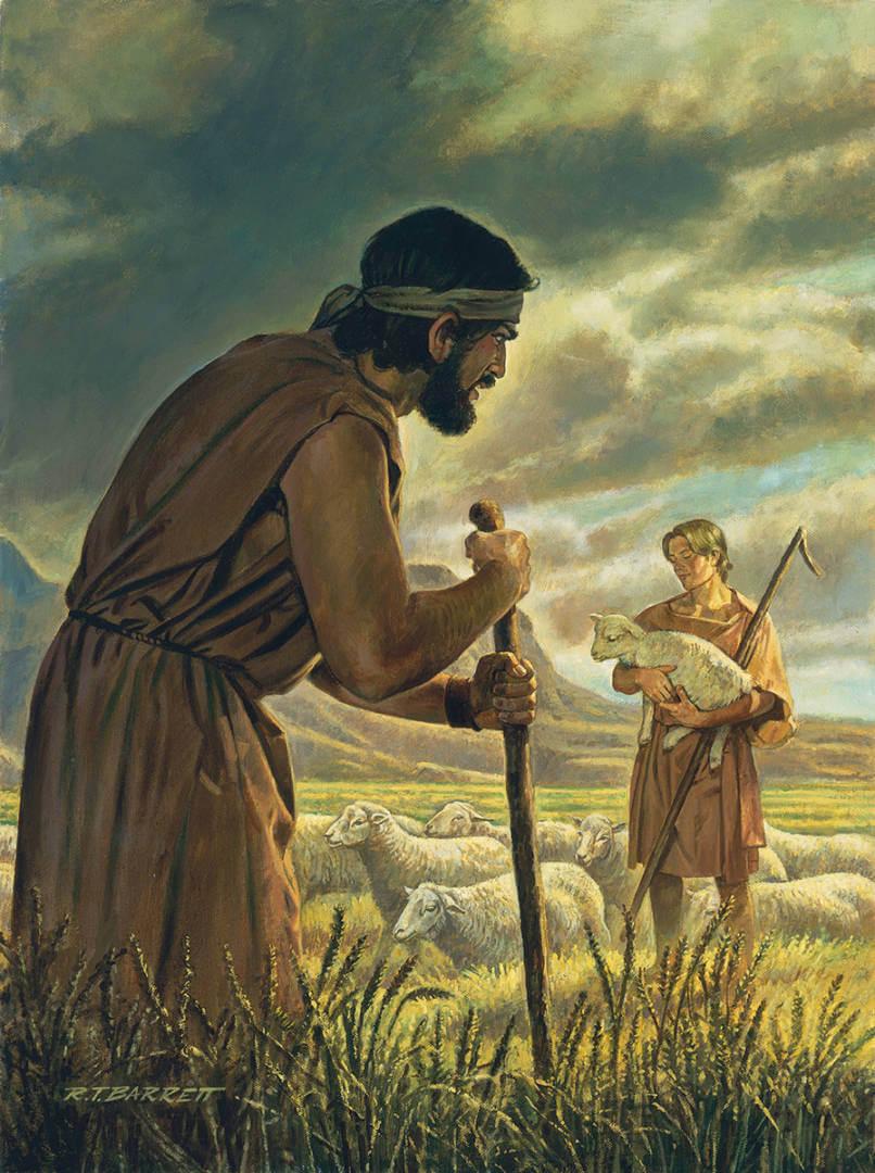 Cain abel barrett staff lamb 166569 print