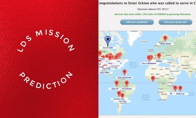 LDS Mission Prediction: Taking the analog map and pin online