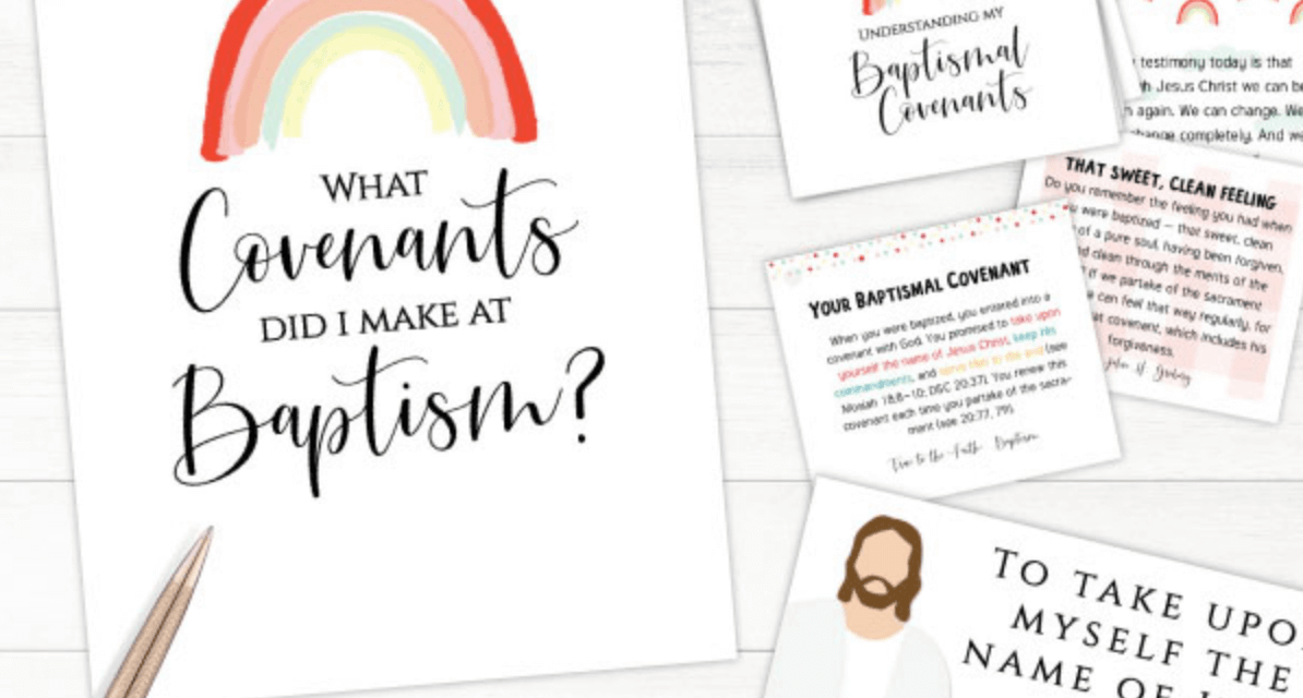 How to create and print a Mormon baptism program