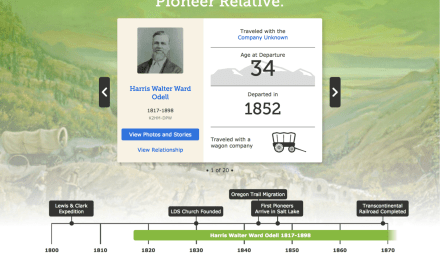 FamilySearch and the Church History Library combine to send out Pioneer Day surprise emails!