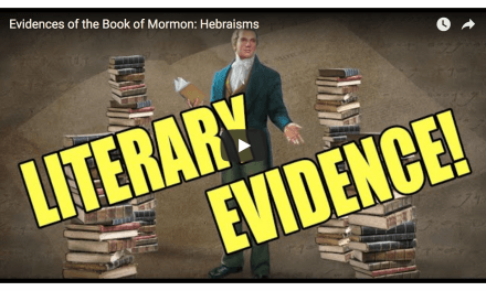 Is there evidence of Hebrew in the Book of Mormon? Watch this video . . .