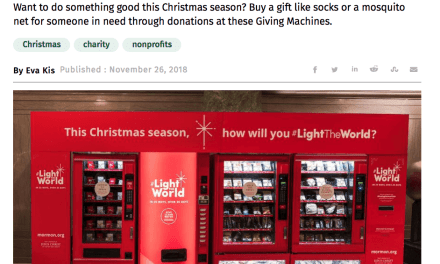 Remember that one time the New York press picked up the #LightTheWorld Giving Machines