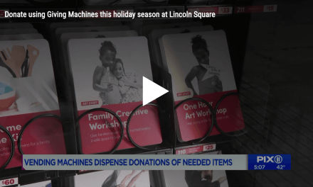 PIX11 New York: Donate using Giving Machines this holiday season at Lincoln Square ( #LightTheWorld )