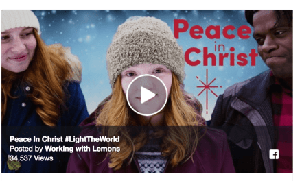 WORKING WITH LEMONS are back to #LightTheWorld with a great rendition of PEACE IN CHRIST!