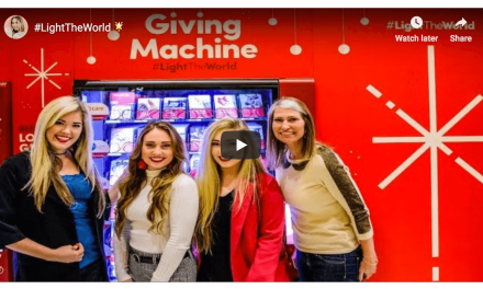 """""""Sunday Jess"""" shows the unveiling of the Giving Machines to help #LightTheWorld"""