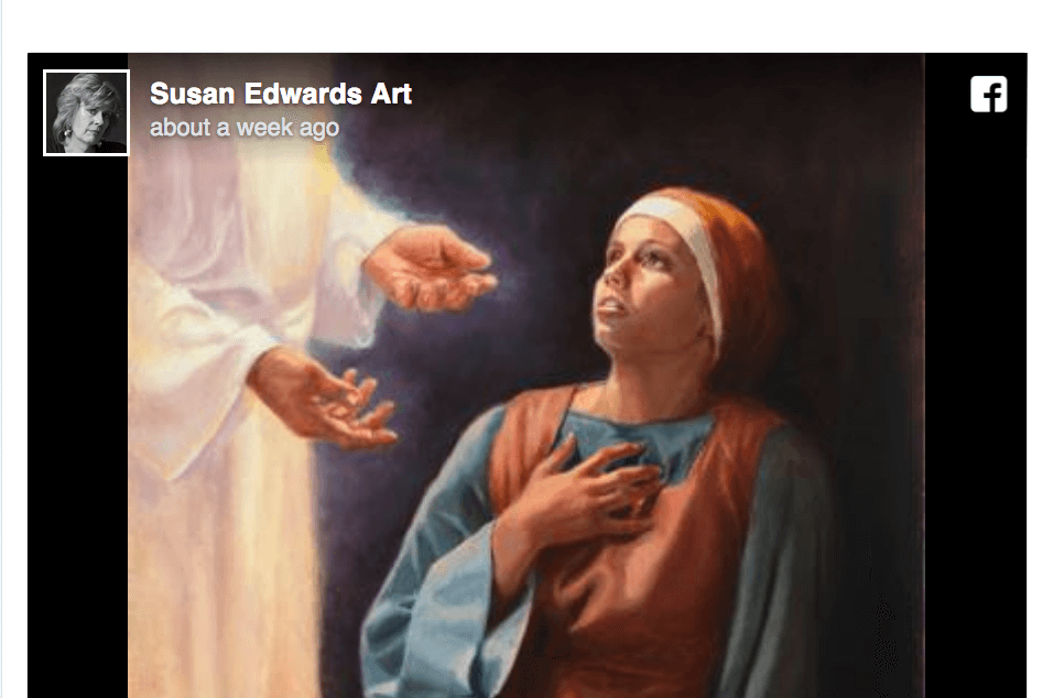 """Susan Edwards Art joins in the #LightTheWorld movement with a beautiful painting called """"Be It Unto Me"""""""