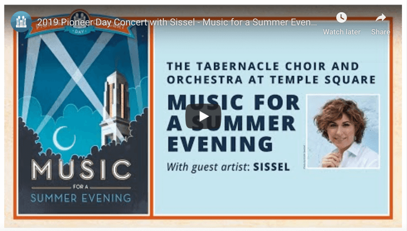 2019 Pioneer Day Concert with Sissel - Music for a Summer Evening