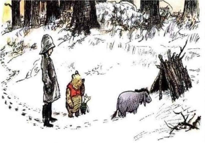 Winnie Pooh Piglet Ministering LDS Mormon