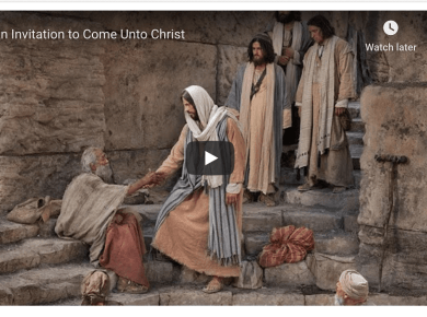 An invitation to Come unto Christ Mormon LDS