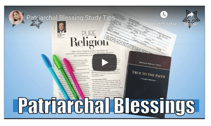 Here are a few of her favorite ways to study her Patriarchal Blessing and how to make the most out of it! Mormon LDS Sunday