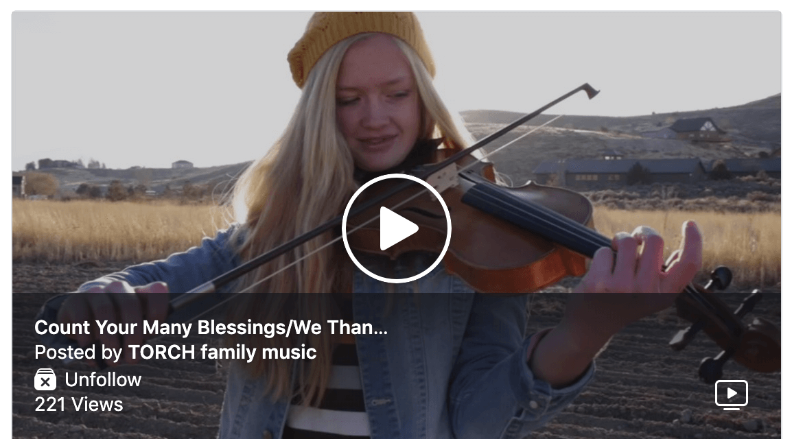 "VIDEO: Torch Family Music will surprise you with their ""Count Your Many Blessings/We Thank Thee Oh God for a Prophet"" Medley"